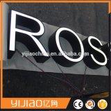 El profesional firma la carta de canal iluminada 3D por encargo del acero inoxidable LED de la UL de la fábrica