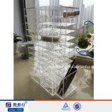 Blanc neuf tournant le stand acrylique de support d'étalage de rouge à lievres