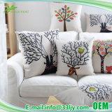 Cubierta cuadrada de lino 18X18 de la almohadilla del algodón para la silla