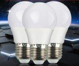 LEDプラスチックカバーアルミニウム9W E27球根ランプライト