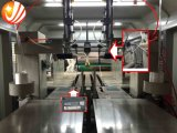 Automatische faltende klebende Maschine und Bündelungs-Maschine für gewölbte Kästen