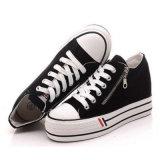 Caliente-Vendiendo la última lona con estilo de los hombres de la venta al por mayor barata los zapatos Plat los zapatos
