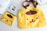かわいい私のメロディーの布*犬の携帯用袋折る袋のショッピング・バッグ