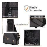Notebook durável Messenger Bag para notebook de 15 polegadas homens elegante bolsa de laptop de ombro