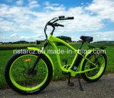 Самым модным жира на пляже в шинах электрический велосипед