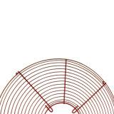 Refroidissement par ventilation métal chromé rouge du filtre du ventilateur