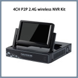 4CH P2P HD DVR Ahd con 7 pulgadas LCD, sistema de CCTV