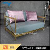 Mobilier de maison de l'or canapé 2 places dans la salle de séjour