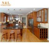 Module de cuisine réel en bois solide de chêne de cerise de N&L
