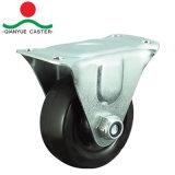Schwenker mit seitliche Bremsen-fettem Typen Gummifeuergebührenfußrolle