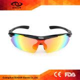 Gafas de sol deportivas polarizado Anti-UV gafas de ciclismo con 5 lentes intercambiables, de 7 colores