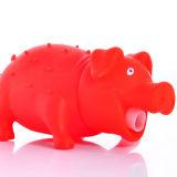 ビニールのShrillingの叫ぶ音のブタの赤のおもちゃを緩めなさい