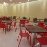 Tabela do restaurante do fast food e cadeira comerciais clássicas (SP-CS262)