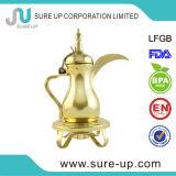 Mini POT arabi Dallah del caffè dell'oro con la stufa della candela
