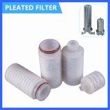 I pp hanno pieghettato la membrana 0.2 cartuccia di filtro piegata microporosa dai 0.45 micron per l'impianto di per il trattamento dell'acqua