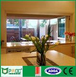 Ventana plegable del vidrio helado de Pnoc080916ls con buen precio