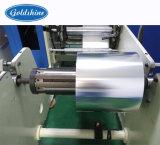 Rouleau automatique de papier aluminium rembobinage de la machine avec dispositif de fixation de l'étiquette