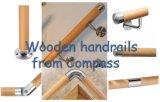Redondo de acero inoxidable Balustrading conector adaptador de madera