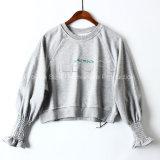 中国語はHoodiesの灰色のニットウェア灰色の円形カラーランタンの袖の偶然のワイシャツを発注する