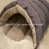 견면 벨벳 슬리퍼 개집 애완 동물 침대 작은 고양이 개 자기 침대