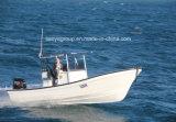 7.6m kundenspezifisches Fischerboot-Mittelkonsolen-Fiberglas-Fischerboot