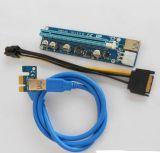 Nuevo PCI-E de 1x a 16X 008c de la tarjeta vertical PCI-E de cable de extensión