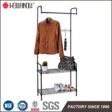 Самомоднейший шкаф вешалки ткани одежды стального провода Epoy Coated черный