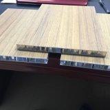 Le bois de la texture du métal panneau alvéolé bois comme AHP