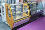 Pastel de mostrador de exposición comercial nevera con refrigeración de alta velocidad