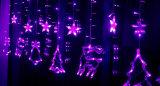 إستعمال خارجيّ مسيكة واضحة كبل [س] [روهس] [لد] عيد ميلاد المسيح ستار شلال أضواء