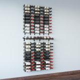 프리젠테이션 줄 포도주 벽 장비는 금속 잘 고정된 포도주 선반을 결합한다