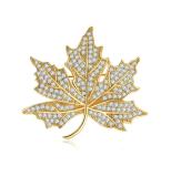 De Juwelen van de Broche van de Partij van het Blad van charmes voor Rhodium van de Vrouw &Yellow de Gouden Juwelen van de Broche van de Manier van de Decoratie