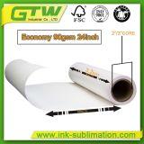 O tamanho do rolo de grande formato 90gsm, Papel de Transferência por sublimação térmica