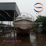 barco de pasajero de los 22m con la carrocería del barco de la fibra de vidrio