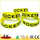Elastico su ordinazione promozionale, braccialetto personalizzato del silicone di buona qualità