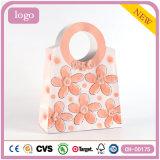 Orange Flower Fashion Art Coated Gift Paper Bag