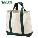 Grands deux sacs d'emballage blanc organiques populaires en gros de toile de compartiment