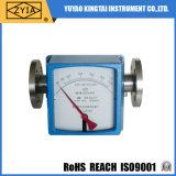 Flujómetro horizontal de la agua caliente del flotador del tubo del metal del montaje con el interruptor de límite de la alarma