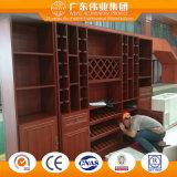 Profil en aluminium Cabinet avec variété de grain du bois