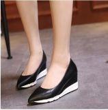 Оптовая торговля Ultra-Fine волокна склона с пятки маффин толстых водонепроницаемый платформы в носке скольжения обувь