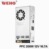 Stromversorgung des Weho Leistungs-Faktor-200W 12V Pfc