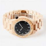 Custom марки природных моды мужчин японский движение Maple деревянные часы