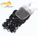 100 fechamentos e Frontals do laço da venda por atacado do cabelo humano