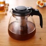 Бак чая ясного стеклянного чайника зацветая с Infuser