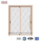 Puertas de aluminio satinadas Tempered dobles durables de la puerta deslizante