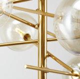 Candelabro de vidro da iluminação do diodo emissor de luz do projeto Home moderno quente da venda