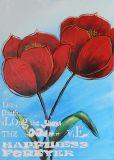 Schönheits-Blumen-Art-handgemachtes Ölgemälde