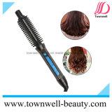 3 en 1 cepillo de pelo caliente con hierro plano y que se encrespa
