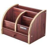 Sostenedor de madera del almacenaje del papel de la capacidad grande con el cajón