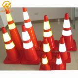 De anti-uv Fluorescente Oranje Kegel van het Verkeer van pvc van de Verkeersveiligheid